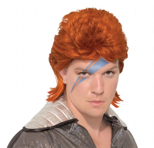 70s Rock Legend Wig Orange 70s Disco Hippie Fancy Dress
